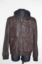 River Island Zip Leather Hooded Coats & Jackets for Men