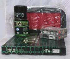 Yamaha YZF-R1 (2002 bis 2003) Service Kit (Luft/Öl Filter und 4 X Zündkerzen)