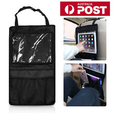 Car Back Seat Hanging Bag Storage Organizer Pocket Travel iPad Holder PVC Tidy
