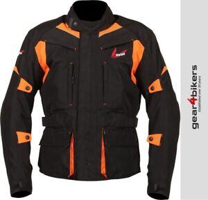 Weise Pioneer Orange Textile Armoured Motorcycle Jacket Motorbike Touring