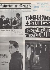 1965 Volume 1 # 23 Issue of Rhythm n' News Paper with Rolling Stones on Cover