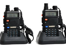 2 Pack Baofeng UV5R Dual Band UHF/VHF Two Way Radio FM 1800mAh +earpiece spain