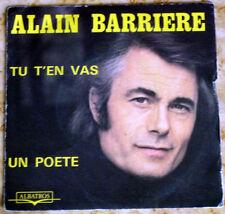 Disque 45 T. Alain BARRIERE 10.118 - Avec Noëlle CORDIER - Tu t'en vas - 1975