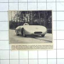 1936 Speed Record Broken By R Carrachhiola 12 Cylinder Mercedes