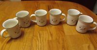 Pfaltzgraff Winterberry Six (6) Mugs/Cups  - Excellent!        551*