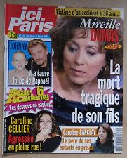 ICI PARIS N° 3165 JOHNNY HALLYDAY MIREILLE DUMAS CAROLINE CELLIER JARRE ROUSSOS