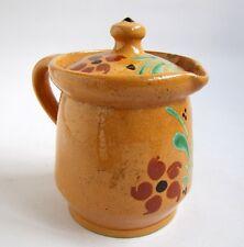 Pot a Lait Soufflenheim Poterie Alsace Vintage French Milk Jug Pottery