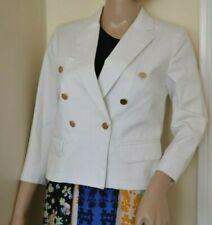 Isabel Marant Blanc Court Coton Blazer or Boutons Neuf 38 UK 6 3/4 Manches