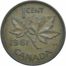 COIN / CANADA / 1 CENT 1961 / ELIZABETH II.  #WT17546