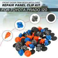 30pcs Front Door Trim Body Moulding Repair Panel Clip Kit For Toyota Prado   //