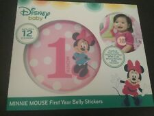 New Disney Baby Minnie Mouse First Year Milestone Belly Stickers Girls 0-12