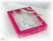 """36"""" Adjustable Body Belly Chain by Playboy*Playmates Silver Plated Bunny Charms"""