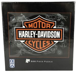 FX Schmid Harley Davidson Motor Cycles 500 Piece Puzzle # 81319 Sealed New