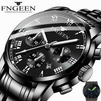 Luxury Men Fashion Stainless Steel Military Army Analog Sport Quartz Wrist Watch