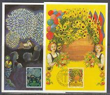 Liechtenstein Scott 708-9 Maxim Card - 1981 Europa Issue