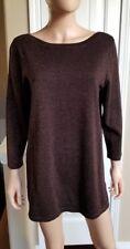 NWT! Jones NY Signature Women's Espresso/Copper Metallic Knit Sweater, Size XL