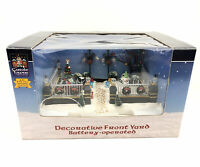 Lemax Carole Towne Christmas Village Decorative Front Yard Accessory Snow Lights