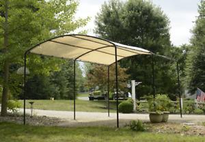 ShelterLogic Monarc Car or Backyard Canopy Sandstone 10 x 18 ft Arched Frame
