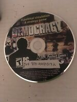 DEMOCRACY A Political Simulation & strategy Game PC DVD ROM Positech Games  2007