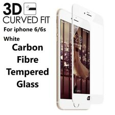 For iPhone 6s 6 3D Full Edge to Edge WHITE Tempered Glass Screen Protector