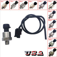 1/8NPT Thread Stainless Steel Pressure Transducer Sensor Oil Fuel Air Water US