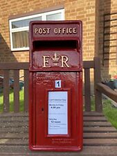 ER Postbox Letter Post Box - Cast Iron - Post Office Red - Large - Base Mount