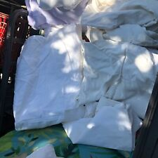 VTG Linens Bed Covers Monogrammed KL 2 sheets 4 large pillowcases Damage Cutter