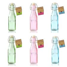 Set of 6 Kilner Swing Top 250ml Glass Oil Preserve / Preserving Storage Bottles
