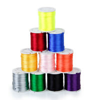 10Color 8M Nylon Chinese Knot Cord Macrame Rattail Braided Thread String 1mm