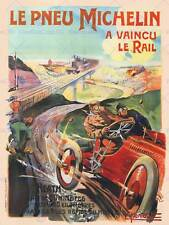 Anuncio Michelin Neumáticos París Francia Poster Vintage Art Print 813PY