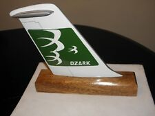 OZARK AIRLINE WOOD DESK MODEL AIRPLANE TAIL PILOT FATHERS DAY COLLECTIBLE NEW