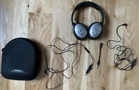 Bose QC-2, Quiet Comfort Noise Cancelling Headphones, Case, Premium Cables