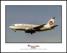 America West Airlines Boeing 737-277 11x14 Color Photograph (J013LAWW11X14)