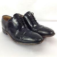 JOHNSTON & MURPHY Men's Cap Toe Black Leather Oxfords Dress Shoes Size 8 D, EUC