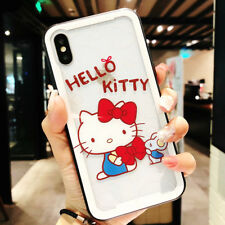Hello Kitty Transparent Tempered Glass Shockproof Cover Case For iPhone Xs Max X