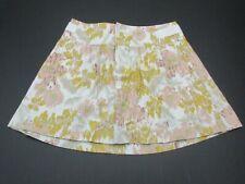 Old Navy Women's Size 4 Multi Color 55%Linen Fly Zip Mini Skirt 863