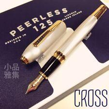 Cross Peerless 125 Medalist Platinum Plated Gold Trim 18K Fountain Pen