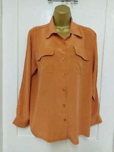Orvis 100% Silk  Shirt Size M