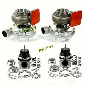 for Chevy LS LS1 LS2 LSX T4 T76 AR.80/.81 Turbo Oil Cold+60mm External Wastegate