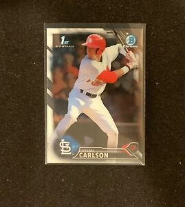 2016 BOWMAN CHROME DRAFT DYLAN CARLSON ROOKIE REFRACTOR CARDINALS #BDC-3