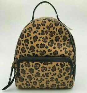 New Fossil Felicity backpack PVC & Leather Cheetah Animal Print
