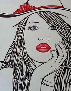 "Drawing / Dessin / - Pen/Au stylo - "" TANYA """