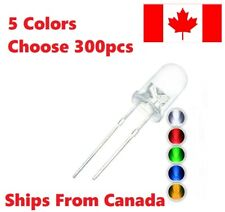 300 Pcs 5 Colors. 5mm Round Diffused LED Diodes Light Kit. You Choose Pack. DIY