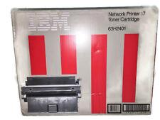 IBM 63H2401 Black Toner Cartridge Network Printer 17 Genuine Old Stock Unopened