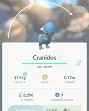 Cranidos #408 Pokemon Go ✔ Rare Pokemon ✔ 100% Quick & Safe
