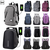 Mens Anti Theft Travel Laptop Backpack Rucksack Book Bag Bag USB Charge Port