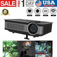 3D Home Theater Projector USB/SD/AV/Bluetooth Cinema Smart Phone Video