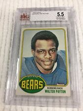 1976 Topps Walter Payton (RC) (HOF) Card # 148 Beckett graded 5.5 Excellent+