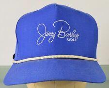 Vintage Jerry Barber Pro Golf Golfer Clubs Blue Baseball Hat Cap Adjustable