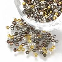 2 PERLES SEMI-PERCEES PIERRE Marron et Vert Goutte 24mm DIY création bijoux